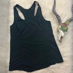 Lululemon // Run A Marathon Singlet Black FLAWED